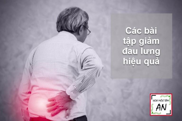 Các bài tập giảm đau lưng hiệu quả