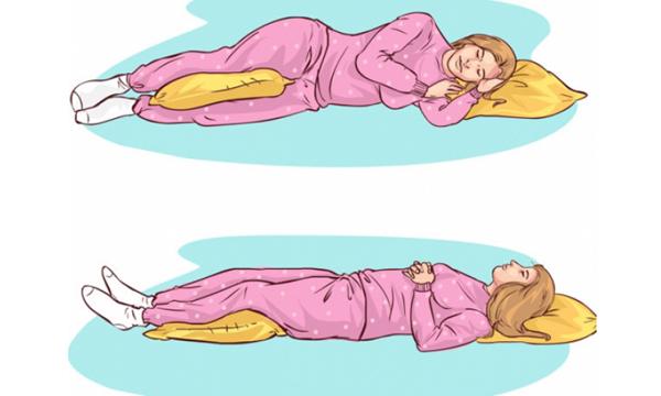 tư thế nằm ngủ cho người đau lưng